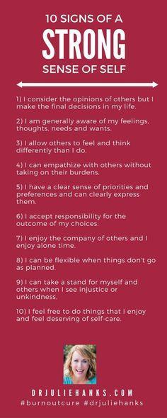 Psychology : Psychology : 10 Signs of a Healthy Self   Dr. Julie Hanks LCSW   Emotional Healt