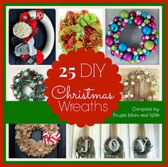 Frugal Mom and Wife: 25 DIY Christmas Wreaths!