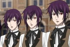 Black Butler - Thompson, Timber, and Canterbury I think I got their names right...lol Determined to cosplay as one of them. Lol