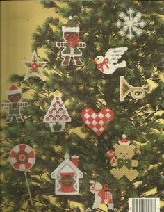 Christmas Ornaments in Plastic Canvas 12/12 (Back)