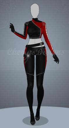 (closed) Auction Adopt - Outfit 482 by CherrysDesigns Source by clothing sketches Clothing Sketches, Dress Sketches, Dress Drawing, Drawing Clothes, Fashion Design Drawings, Fashion Sketches, Anime Outfits, Cool Outfits, Fashion Mode