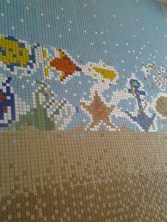 Detalhe ((Painel Marinho mosaico em 8,0 x 2.6m))