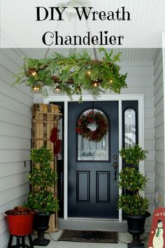 DIY Wreath Chandelie