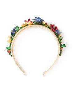 Dolce & Gabbana Floral Headband - Julian Fashion - Farfetch.com