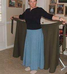 MrsMamaHen.com: How to Make a Modest Wrap Skirt