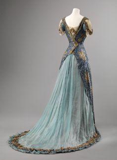 Fripperies and Fobs Evening dress, 1905-10  From the Nasjonalmuseet for Kunst, Arkitektur og Design
