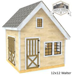 The Walter style shed plan.  Comes in 10x10 & 12x12 sizes.  Download the plan today!