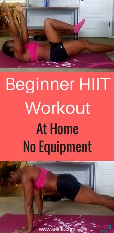 Beginner HIIT workout at home with no equipment #HIIT #fatloss #workout #athomeworkouts
