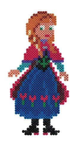 Hama - 7946 - Loisirs Créatifs - Blister 4000 Perles à Repasser + 2 Plaques - Taille Midi - Disney La Reine des Neiges
