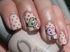 MaD Manis: Nail Art: Polka Dot Birdies