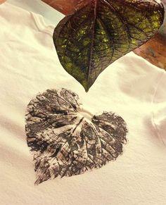 Como customizar camiseta com folhas de plantas