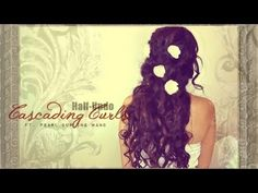 ★ FORMAL, LONG CURLY HAIRSTYLES| HALF-UP UPDO FOR PROM WEDDING Hair Tutorial