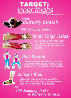 Work out for the inner thighs
