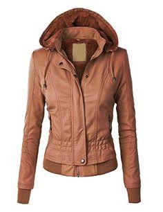 Manteau marron femme court