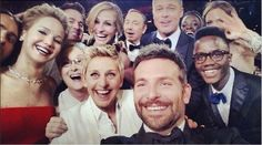Ellen and her posse at the Oscars.