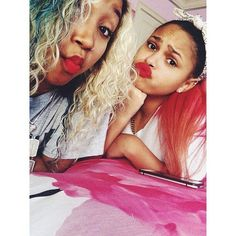 Zonnique Pullins and Lourdes Rodriguez from the OMG Girlz