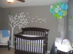 Love the tree... I have ugly green carpet (think astro-turf!) to work with in the nursery, so I need to find ideas that work around that....