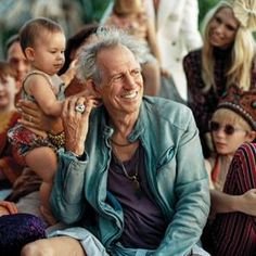 Keith Richards and family.
