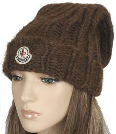 Brown Native Geometric Stitch Ski Hat Winter Beanie for Men Women Unisex