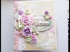*Wedding Mini Album- Lavish Laces GDT* - YouTube Ezt kellene megcsinalni a Santoro papirokbol!!!!!!!!