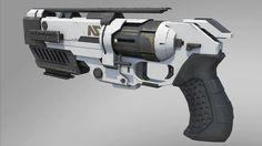 futuristic revolver for Logan's Run