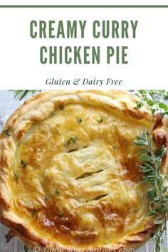 Hot Chicken Pie for dinner is the ultimate comfort food during colder weather. Creamy Curry Chicken Pie is ridiculously easy to prepare and super tasty. Chicken Pot Pie Recipe Dairy Free, Gluten Free Chicken, Curry Chicken Pot Pie Recipe, Chicken Recipes, Easy Pie Recipes, Real Food Recipes, Cooking Recipes, Delicious Recipes, Tasty