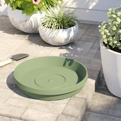 """*24* NEW HEAVY DUTY FLOWER POT SAUCERS BASES PLATES FITS 6/"""" PLANTER EVER GREEN"""