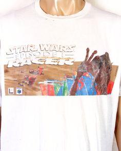 9a7c51ff4ccf vtg 90s soft thin Worn Star Wars Episode I Racer T-Shirt N64 Nintendo 64