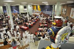 A special Titanic-themed dinner in Shultz Dining Hall