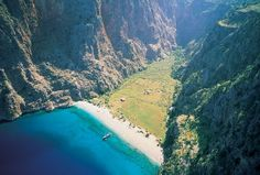 Butterfly Valley in Fethiye/Mugla, Turkey -- Lost to the World but Awake Within Myself Oh The Places You'll Go, Places To Visit, Hidden Beach, Turkey Travel, Dream Vacations, Wonderful Places, Amazing Things, Amazing Places, Beautiful Beaches