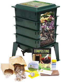 Worm Factory 360 Composting Worm Bin. Great Idea! Looks clean and easy to use. Could use on deck?