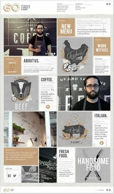 How great is this coffee-inspired, masculine color palette? We love the grid layout too! #webdesign #colorpalette #coffee