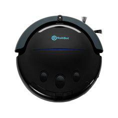 Best in Class RolliTerra Robotic Vacuum - Quiet, Deep-Cleaning Rollerbrush Filters Debris & Pet Hair, Includes Remote