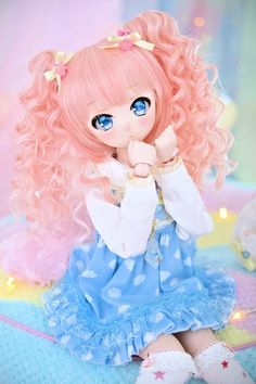 15 Trendy Ideas For Doll Anime Pullip Anime Dolls, Ooak Dolls, Blythe Dolls, Barbie Dolls, Pretty Dolls, Beautiful Dolls, Ball Jointed Dolls, Henna Designs, Kawaii Doll