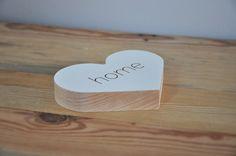 Drewniane serce z napisem home Place Cards, Place Card Holders