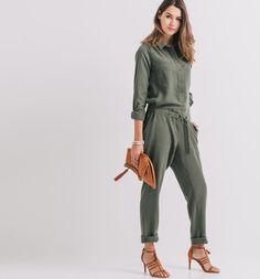 Combinaison pantalon Femme kaki - Promod