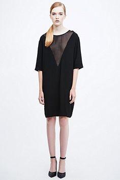 bd121113422 Won Hundred - Pinar Sheer Triangle Dress in Black Раздутые Куртки