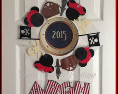 Mickey Mouse Pirate Magnet Wreath For Cruise Door