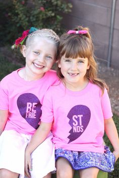 DIY Best Friends Heat Transfer Material Shirts made with my Silhouette CAMEO