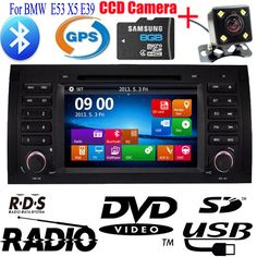 Double 2 Din Car DVD CD Player For BMW E53 X5 E39 built-in BT+CDC+DVD+GPS+ IPOD+RDS-RADIO+VIDEO+AUX+USB+SD+CAN BUS