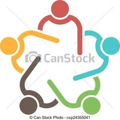 Teamwork conference group of 5 people. - csp24355041