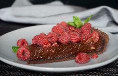 Citromhab: Csokoládés pite málnával