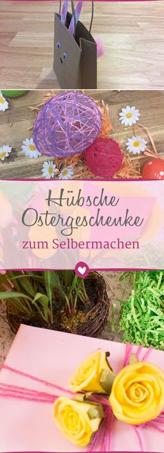 Selbstgemachte #Ostergeschenke kommen besonders gut an. #diy #ostern Diy Ostern, Tray, Home Decor, Crafting, Happy Easter, Diy Home Crafts, Packaging, Make Your Own, Deco