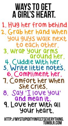 ♥ good things to know for all the guys out there