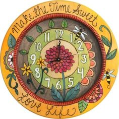 This amazing Small Wall Clock, by the talented Artisans at Sticks, is simply fabulous! With gorgeous colors an 79244