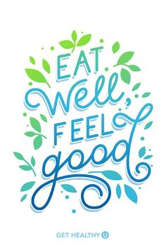 Eat well, feel good. SO TRUE! Feeling inspired is a huge part of everyone's fitness journey. If you're looking for fitness inspiration, healthy meals, heart-pumping workouts or just want to learn more about health and fitness, visit us at Get Healthy U!