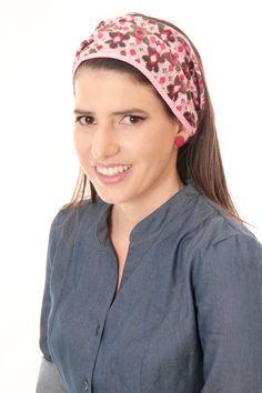 Pink head cover bandana  by TAMAR LANDAU, $23.00 #head cover #modest chic #hair accessories #headband #bandana