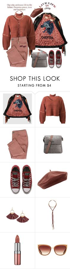 """""""Chunky Knits"""" by ragnh-mjos ❤ liked on Polyvore featuring Gucci, WithChic, Converse, Accessorize, Miss Selfridge, Rimmel and Barton Perreira"""