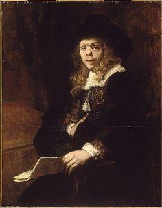 Portrait of Gerard de Lairesse - Rembrandt (Rembrandt van Rijn)