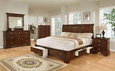 Lifestyle B3185 King Storage Bedroom Set High Point Furniture Distributors Size Sets